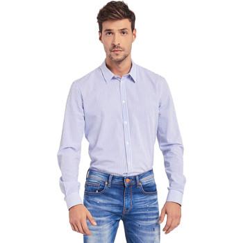 vaatteet Miehet Pitkähihainen paitapusero Gaudi 011BU45032 Sininen