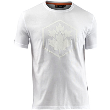 vaatteet Miehet Lyhythihainen t-paita Lumberjack CM60343 005 514 Valkoinen