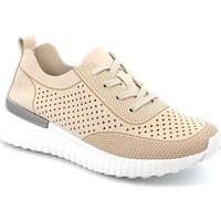kengät Naiset Matalavartiset tennarit Grunland SC4906 Beige