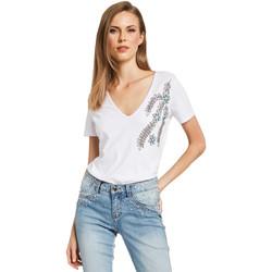 vaatteet Naiset Lyhythihainen t-paita Gaudi 011BD64017 Valkoinen