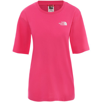 vaatteet Naiset Lyhyt mekko The North Face NF0A4CESWUG1 Vaaleanpunainen