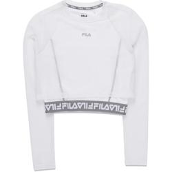 vaatteet Naiset T-paidat pitkillä hihoilla Fila 687720 Valkoinen