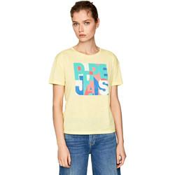vaatteet Naiset Lyhythihainen t-paita Pepe jeans PL504439 Keltainen