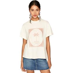 vaatteet Naiset Lyhythihainen t-paita Pepe jeans PL504478 Beige