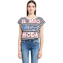 vaatteet Naiset Lyhythihainen t-paita Denny Rose 011ND64017 Valkoinen