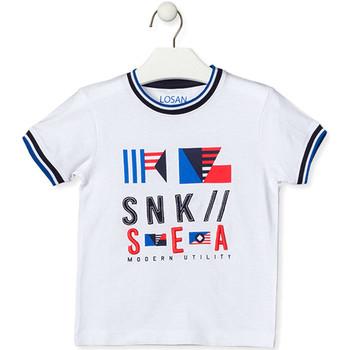 vaatteet Lapset Lyhythihainen t-paita Losan 015-1000AL Valkoinen