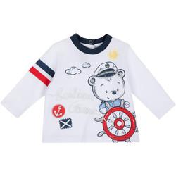 vaatteet Lapset T-paidat pitkillä hihoilla Chicco 09006877000000 Valkoinen