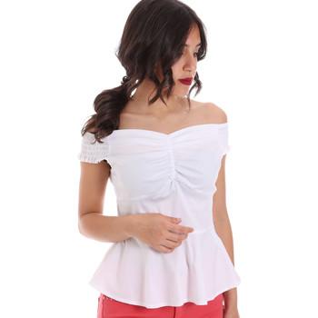 vaatteet Naiset Topit / Puserot Gaudi 011FD45054 Valkoinen