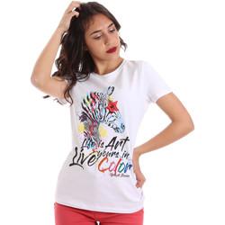 vaatteet Naiset Lyhythihainen t-paita Gaudi 011BD64003 Valkoinen