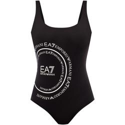 vaatteet Naiset Yksiosainen uimapuku Ea7 Emporio Armani 911128 0P427 Musta