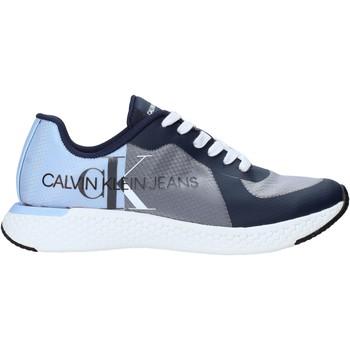 kengät Miehet Matalavartiset tennarit Calvin Klein Jeans B4S0649 Sininen