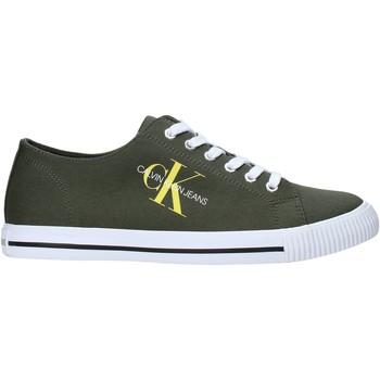kengät Miehet Matalavartiset tennarit Calvin Klein Jeans B4S0670 Vihreä