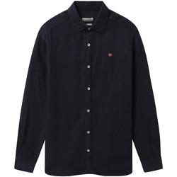 vaatteet Miehet Pitkähihainen paitapusero Napapijri NP000IL7 Sininen