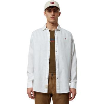 vaatteet Miehet Pitkähihainen paitapusero Napapijri NP000IL7 Valkoinen