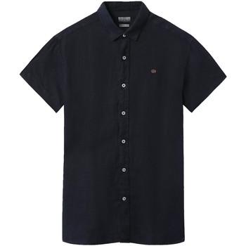 vaatteet Miehet Lyhythihainen paitapusero Napapijri NP000IF1 Sininen