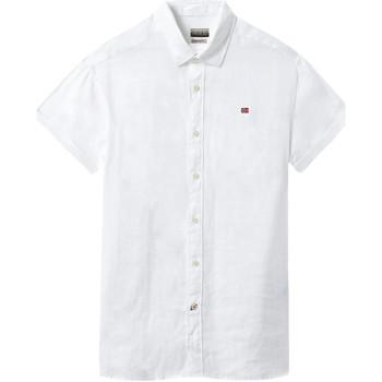 vaatteet Miehet Lyhythihainen paitapusero Napapijri NP000IF1 Valkoinen