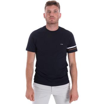 vaatteet Miehet Lyhythihainen t-paita Les Copains 9U9014 Sininen