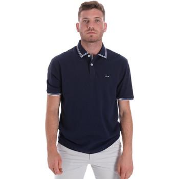 vaatteet Miehet Lyhythihainen poolopaita Les Copains 9U9020 Sininen