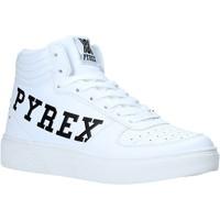 kengät Naiset Korkeavartiset tennarit Pyrex PY020234 Valkoinen