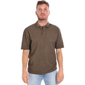 vaatteet Miehet Lyhythihainen poolopaita Les Copains 9U9016 Ruskea