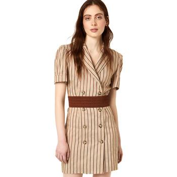 vaatteet Naiset Lyhyt mekko Liu Jo FA0213 T4197 Beige