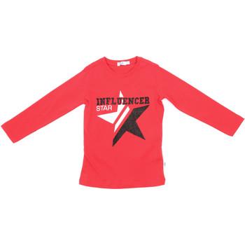 vaatteet Lapset T-paidat pitkillä hihoilla Melby 70C5615 Punainen