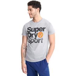 vaatteet Miehet Lyhythihainen t-paita Superdry MS300010A Harmaa
