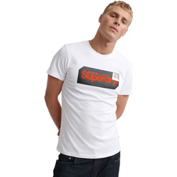 vaatteet Miehet Lyhythihainen t-paita Superdry M1000072A Valkoinen
