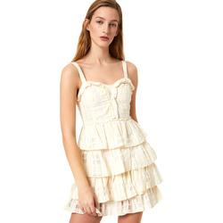 vaatteet Naiset Lyhyt mekko Liu Jo FA0312 T4190 Valkoinen