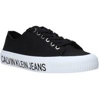 kengät Naiset Matalavartiset tennarit Calvin Klein Jeans B4R0807X Musta