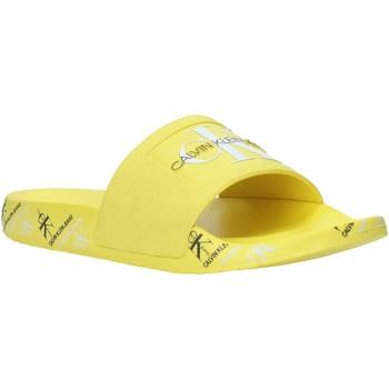 kengät Naiset Rantasandaalit Calvin Klein Jeans B4R0901 Keltainen