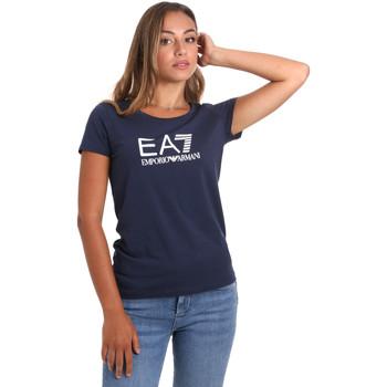 vaatteet Naiset Lyhythihainen t-paita Ea7 Emporio Armani 8NTT63 TJ12Z Sininen