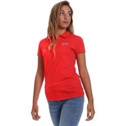 vaatteet Naiset Lyhythihainen poolopaita Ea7 Emporio Armani 3HTF57 TJ29Z Punainen