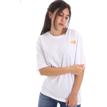 vaatteet Naiset Lyhythihainen t-paita The North Face NF0A4M5QP9V1 Valkoinen