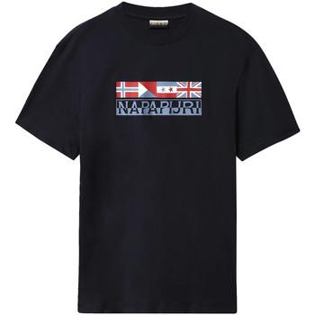 vaatteet Miehet Lyhythihainen t-paita Napapijri NP0A4E35 Sininen