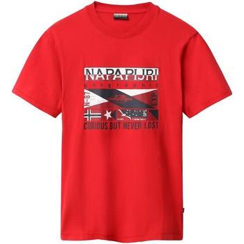 vaatteet Miehet Lyhythihainen t-paita Napapijri NP0A4E35 Punainen