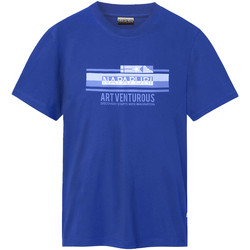 vaatteet Miehet Lyhythihainen t-paita Napapijri NP0A4E36 Sininen