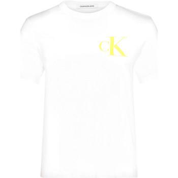 vaatteet Naiset Lyhythihainen t-paita Calvin Klein Jeans J20J213562 Valkoinen