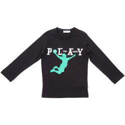 vaatteet Lapset T-paidat pitkillä hihoilla Melby 70C5524 Musta