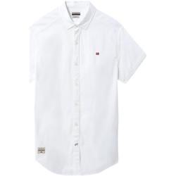 vaatteet Miehet Lyhythihainen paitapusero Napapijri NP0A4E2T Valkoinen
