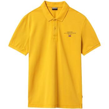 vaatteet Miehet Lyhythihainen poolopaita Napapijri NP0A4EGC Keltainen