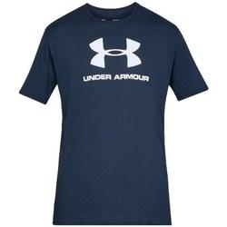 vaatteet Miehet Lyhythihainen t-paita Under Armour Sportstyle Logo Tee Tummansininen