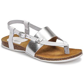 kengät Naiset Sandaalit ja avokkaat Kickers ANAGRAMI Valkoinen / Hopea