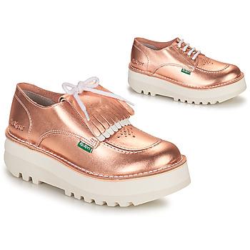 kengät Naiset Derby-kengät Kickers KICKOUCLASS Vaaleanpunainen / Metallinen