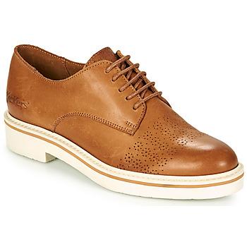 kengät Naiset Derby-kengät Kickers OXFORK Kamelinruskea