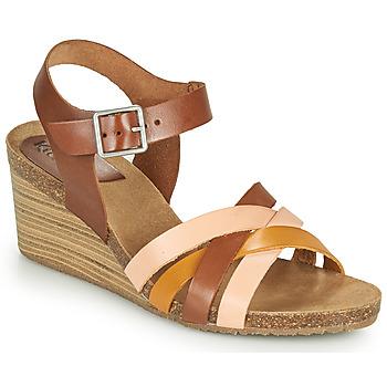 kengät Naiset Sandaalit ja avokkaat Kickers SOLYNIA Vaaleanpunainen / Ruskea / Keltainen