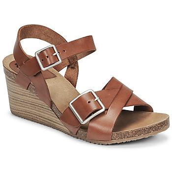 kengät Naiset Sandaalit ja avokkaat Kickers SPAINSTRAP Ruskea