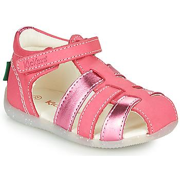 kengät Tytöt Sandaalit ja avokkaat Kickers BIGFLO-2 Vaaleanpunainen