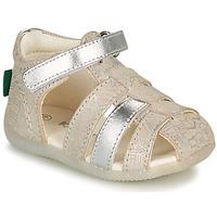 kengät Tytöt Sandaalit ja avokkaat Kickers BIGFLO-2 Hopea