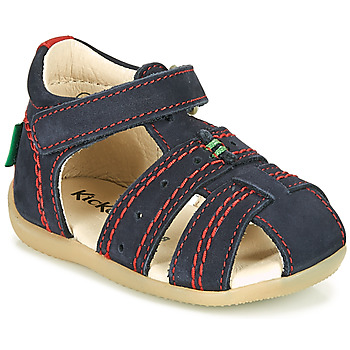 kengät Pojat Sandaalit ja avokkaat Kickers BIGBAZAR-2 Beige / Keltainen / Laivastonsininen